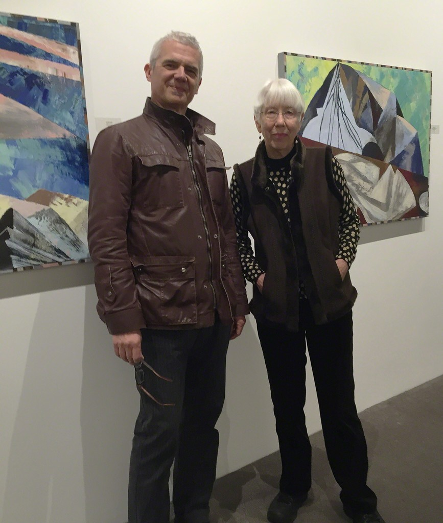 Painter Lucinda Parker poses with gallery director Dale Cotton