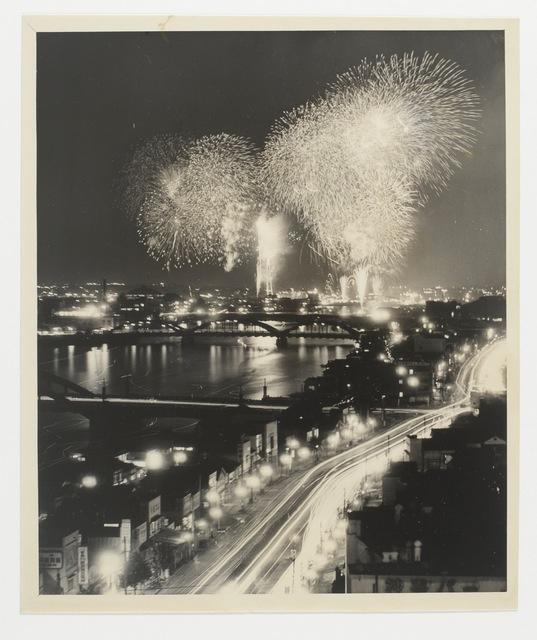 , 'Title unknown (fireworks),' 1951, MEM