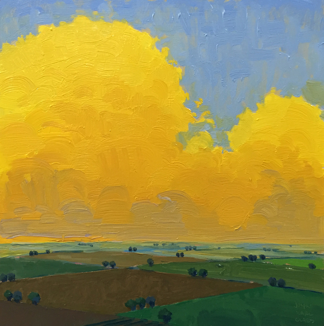 John Karl Claes, 'Yellow Evening Square', ÆRENA Galleries and Gardens
