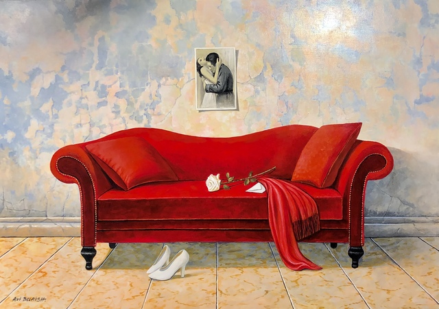 Avi Belaish, 'Red Love Seat', 2017, Heaven Art Gallery