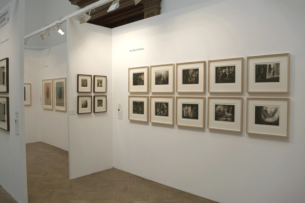 Pratt Contemporary at the London Original Print Fair 2015.  Works by Ana Maria Pacheco.