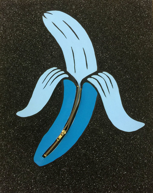 , 'Banana Unzipped (Blue),' 2016, Lawrence Alkin Gallery