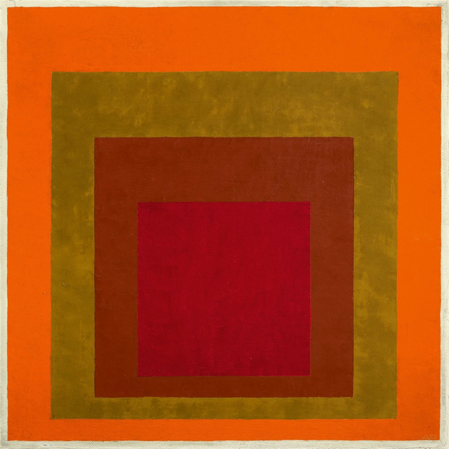 , 'Study to Homage to the Square: Warm Welcom,' 1953/55, Barbara Mathes Gallery