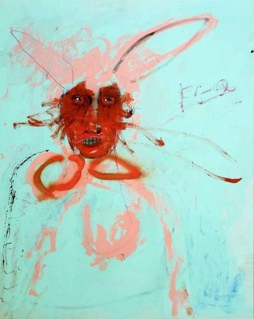 Emanuele Tozzoli, 'Rabbit', 2019, Painting, Mixed media on board, JM Art Management