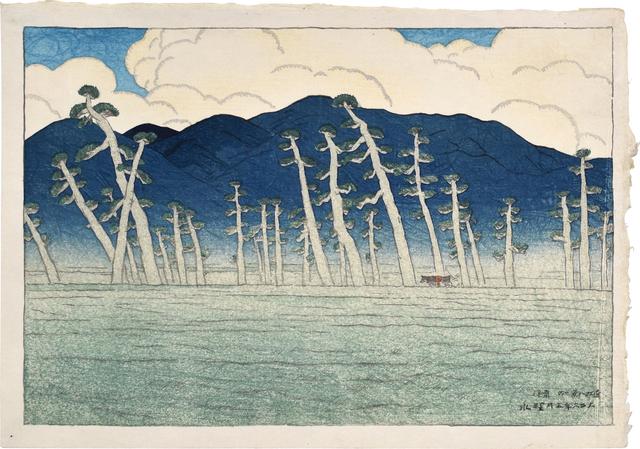 Itō Shinsui, 'Eight Views of Omi: Morning at Awazu', 1917, Scholten Japanese Art