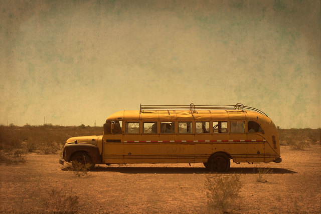 , 'Abandoned School Bus ,' 2014, David Lusk Gallery