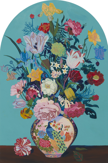 Andy Dixon, 'Teal Bouquet (Gravestone)', 2018, Wilding Cran Gallery