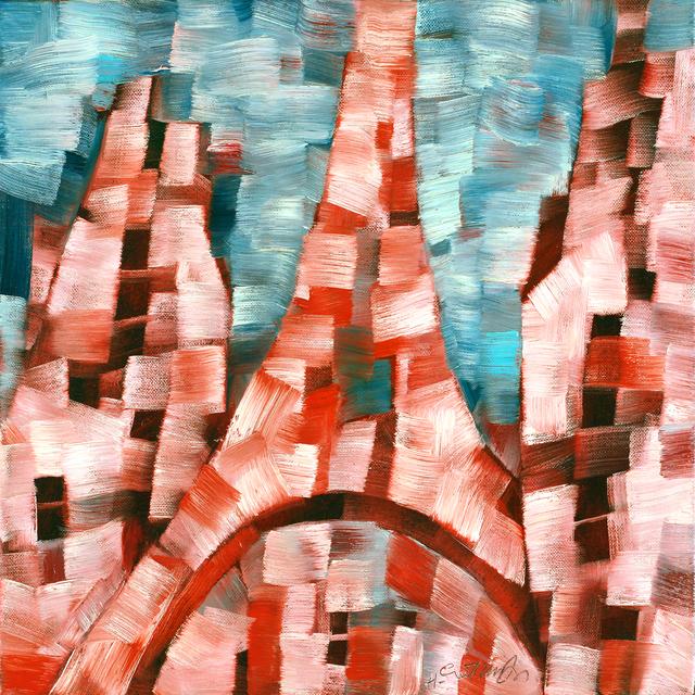 Harry Guttman, 'Paris In The Window', 2011, Painting, Acrylic On Canvas, Blue Gallery