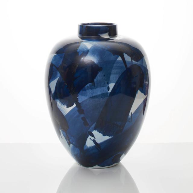 , 'Blue & White Vase,' 2018, Adrian Sassoon