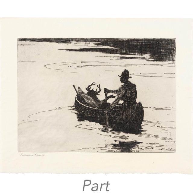 Frank Weston Benson, 'ELIZABETH; DARK POOL; SOARING FISH HAWK; DEER HUNTER; TURNSTONES; YELLOWLEGS IN SUNLIGHT; ESSEX MARSHES; PINTAILS PASSING; RAIN SQUALL (PAFF 150; 189; 225; 229; 283; 285; 291; 300; 317)', 1918-1931, Doyle