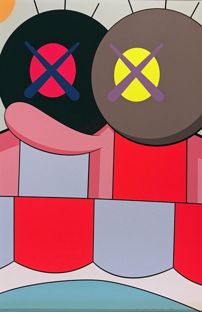 KAWS, 'Blame Game No. 4', 2014, Print, Screenprint on Saunders Waterford 410gsm High White Paper, Georgetown Frame Shoppe