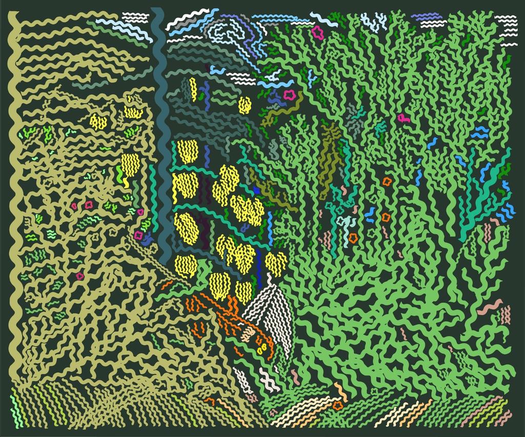 détail crochet avec tourbillon mers Crochet Rhino Salmon Gripper