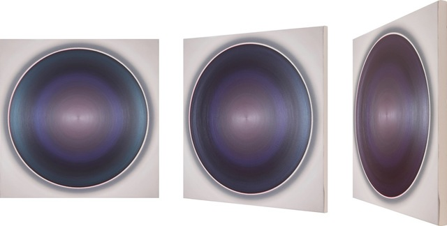 , 'Zentralform petral dance with soft blue and purple aubergine,' 2015, Anita Beckers
