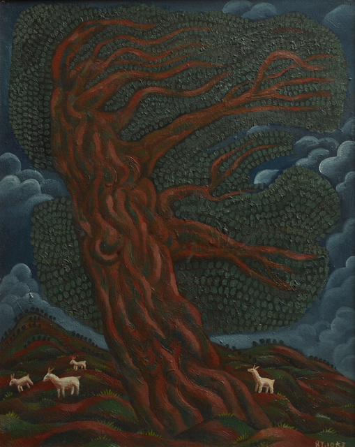 , 'Large Eucalyptus with White Goat,' 1987, Triumph Art Space
