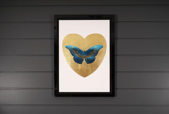 Damien Hirst, 'I Love You, Butterfly, Blue & Gold', 2015, Print, Silkscreen, Gold Leaf, Foil Block, Arton Contemporary