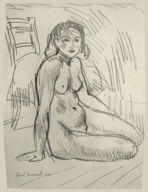 , 'Untitled: seated nude,' 1952, Nikola Rukaj Gallery