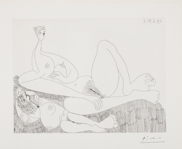 Pablo Picasso, 'Repos. Deux filles nues (Two Nudes Resting), plate 97 from Séries 156', 1971, Phillips