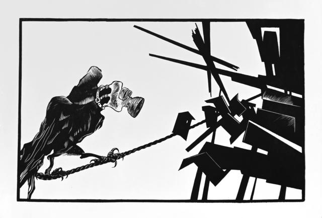 , 'Tightrope Walker,' 2014, BoxHeart