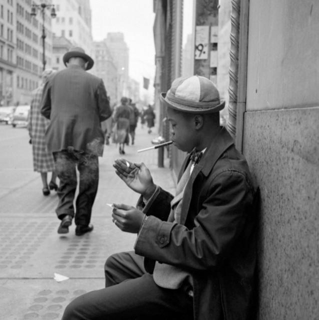 , 'VM1955W02769 - New York, NY, Boy Smoking,' Printed 2017, KP Projects