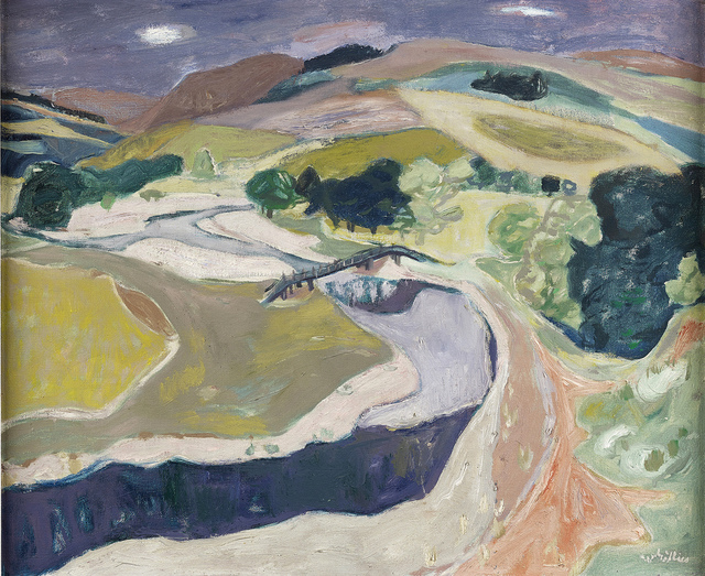 , 'Landscape Below Stow,' ca. 1950, The Scottish Gallery