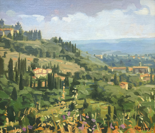 , 'Tuscan Hillside, Fiesole,' 2019, William Baczek Fine Arts