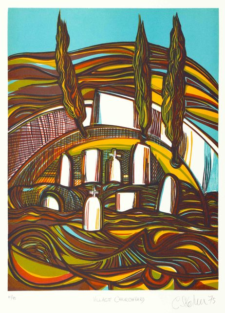 , 'The Village Church Yard,' 1975, The South African Print Gallery