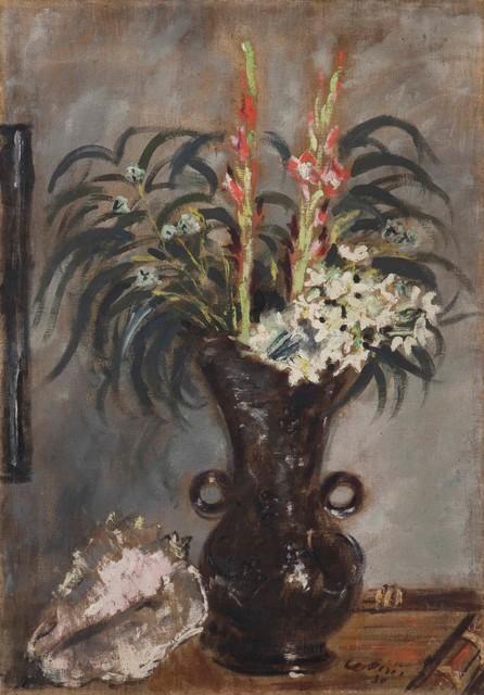 Filippo De Pisis, 'Vaso con gladioli', 1930, Painting, Oil on canvas, Cambi