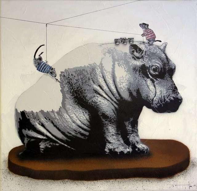 , 'Rats dressing Baby Hippo,' 2018, NextStreet Gallery
