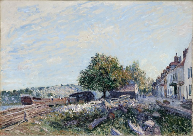 Alfred Sisley, 'Saint Mammès-Morning', 1884, Painting, Oil on canvas, Los Angeles County Museum of Art