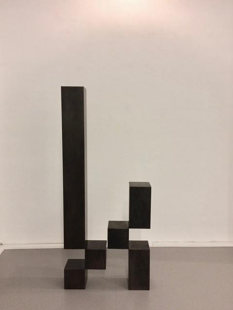 Stephan Siebers, 'CUBE III', 2009, Sculpture, Steel with patina, Galerie Floss & Schultz