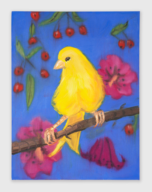 , 'Yello Fello (on Blue with Cherries),' 2018, Shane Campbell Gallery