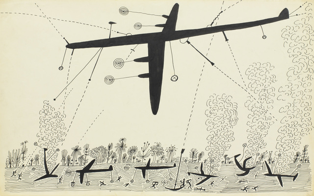 , 'Bombing, South Pacific,' 1945, Pace Gallery