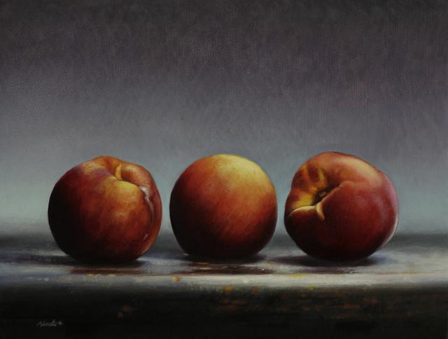 , 'Three Peaches,' 2017, William Baczek Fine Arts