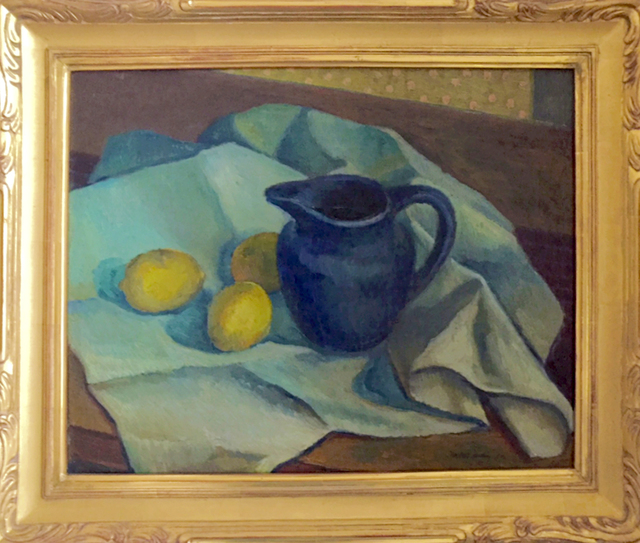 , 'Still Life of Blue Pitcher with Lemons,' 1920s, Contemporary Works/Vintage Works