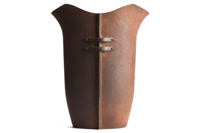 , 'Japanese Hummered Iron Vase,' , Yumekoubou Antique
