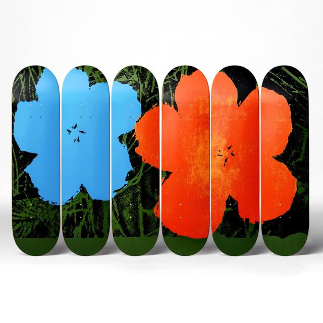 Andy Warhol, 'Flowers Skatedecks', 2016, Design/Decorative Art, 7-ply Canadian Maplewood with screen-print, Artware Editions