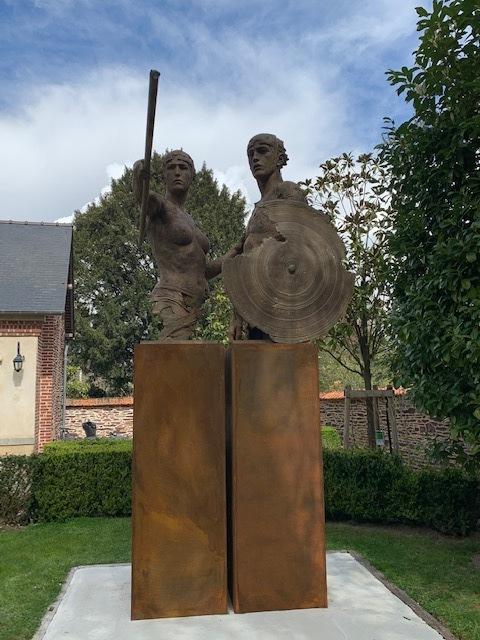 Christophe Charbonnel, 'Thésée & l'Amazone', 2016, Sculpture, Bronze, Galerie Bayart