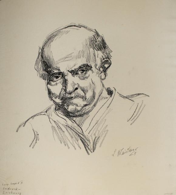 , 'Selbstbildnis nach links,' 1965, Sylvan Cole Gallery