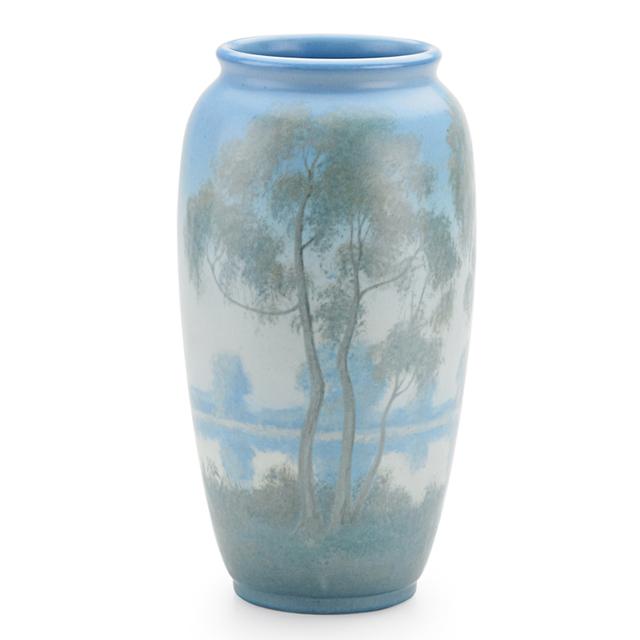 Ed Diers, 'Rookwood, Scenic Vellum Vase With Lake (Uncrazed), Cincinnati, OH', 1931, Rago/Wright