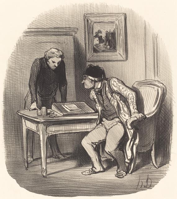 Honoré Daumier, 'Le Compte est-il bien exact?...', 1847, National Gallery of Art, Washington, D.C.