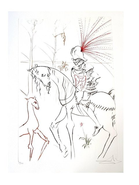"Salvador Dalí, 'Original Etching ""The Bloody Ford"" by Salvador Dali', 1975, Galerie Philia"