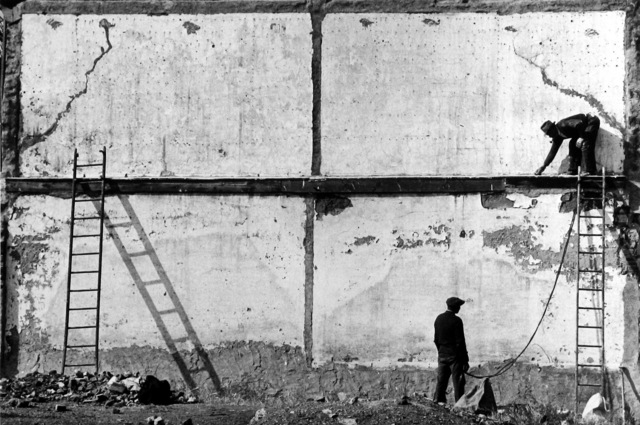 , 'Two Men Against Wall with Ladders, Allentown,' 1939, Howard Greenberg Gallery