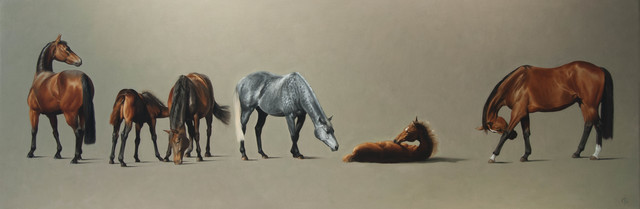 , '11. Thoroughbred Brood Mares and Foals,' 2016, Sladmore Contemporary
