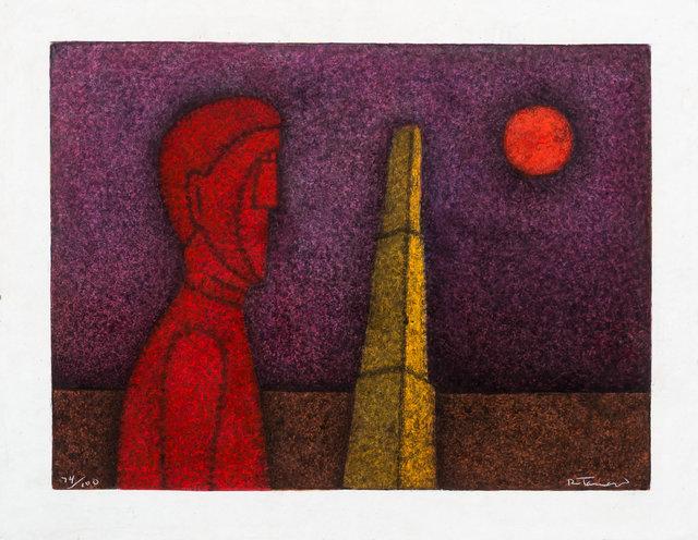 , ' Figura en Rojo,' 1989, LS// Galería