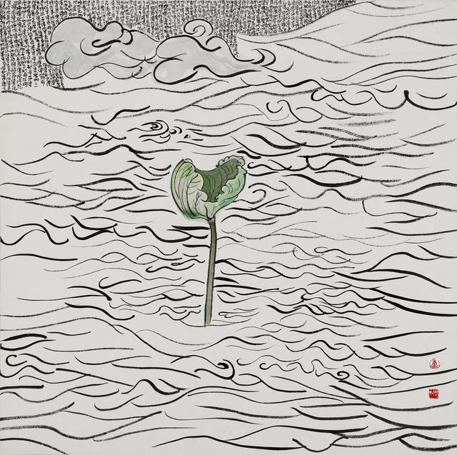 Chu Chu  儲楚, 'Lotus Leaf-Mystical Lotus Sutra 莲叶-妙法莲华经', 2015, iPreciation