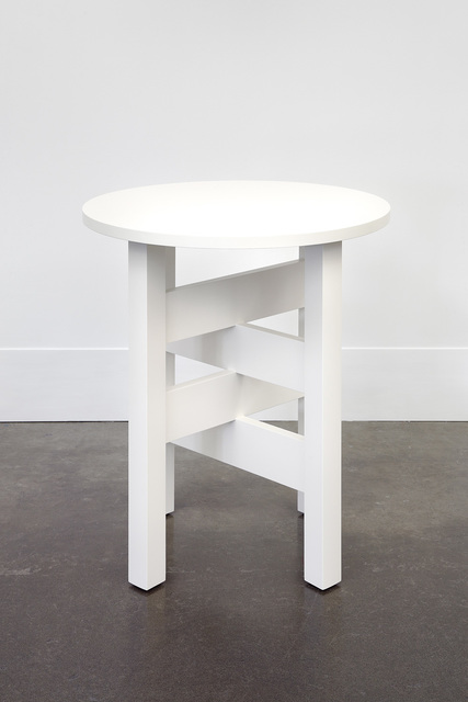 Roy McMakin, 'A White Lamp Table I First Made for Chris', 2011-2014, Lora Reynolds Gallery