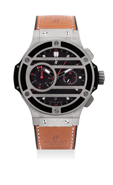 Hublot, 'An attractive limited edition titanium flyback chronograph wristwatch, numbered 116 of a limited edition of 500 pieces', Circa 2012, Phillips