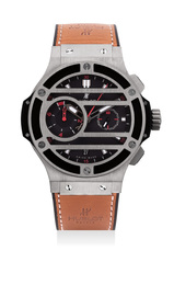 An attractive limited edition titanium flyback chronograph wristwatch, numbered 116 of a limited edition of 500 pieces