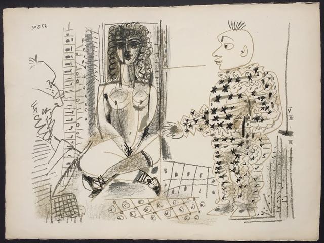 Pablo Picasso, 'Le Peintre et son Modele (B. 765)', 1954, Denis Bloch Fine Art