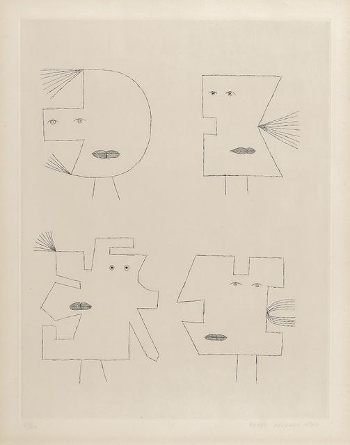 Victor Brauner, 'Plate II from the portfolio Codex d'un Visage', 1962, Skinner